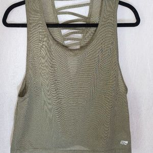 Tops - Green Cut-Out Workout Tank Top